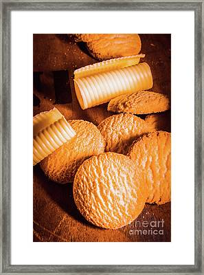Rich Buttery Shortbread Biscuits Framed Print by Jorgo Photography - Wall Art Gallery
