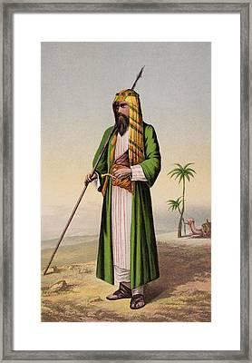 Richard Burton As Haji Abdullah En Framed Print by Vintage Design Pics