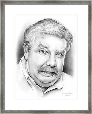 Richard Griffiths Framed Print by Greg Joens
