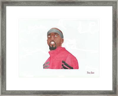 Richard Hamilton Framed Print by Toni Jaso