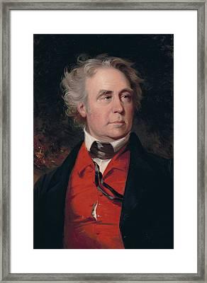 Richard Mentor Johnson Framed Print by John Neagle