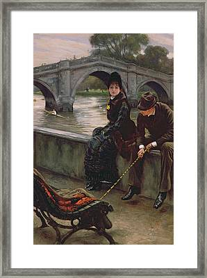 Richmond Bridge Framed Print by James Jacques Joseph Tissot