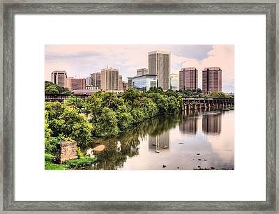 Richmond Skyline Framed Print by JC Findley