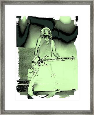 Rick Savage - Def Leppard Framed Print by David Patterson