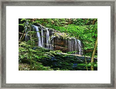 Ricketts Glen S P - Mohawk  Falls Framed Print by Allen Beatty