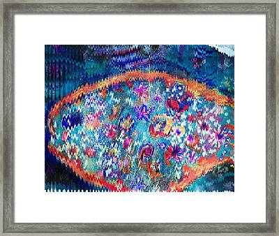 Rick Rack Wiggly Abstract Framed Print by Anne-elizabeth Whiteway