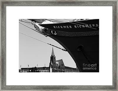 Rickmer Rickmers Mono Framed Print by John Rizzuto