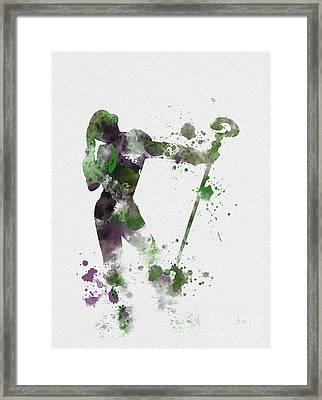 Riddler Framed Print by Rebecca Jenkins