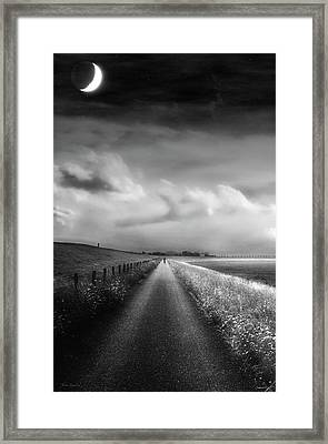 Ride The Moonlight Framed Print by Wim Lanclus
