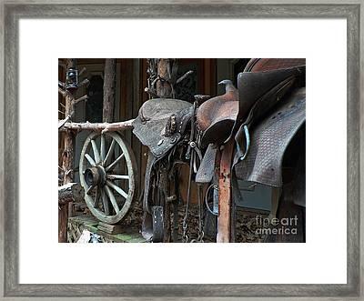 Ride The Rail Framed Print by Joy Tudor