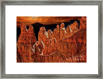 Ridge At Sunset Point Bryce Canyon Framed Print by Blake Richards
