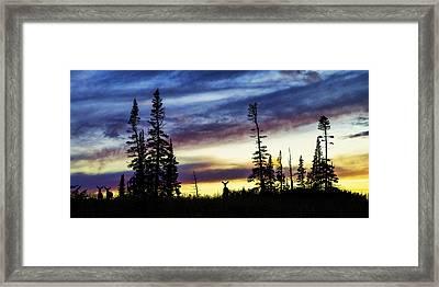 Ridge Sihouette Framed Print by Chad Dutson