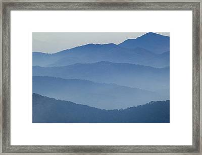 Ridgelines Great Smoky Mountains Framed Print by Rich Franco