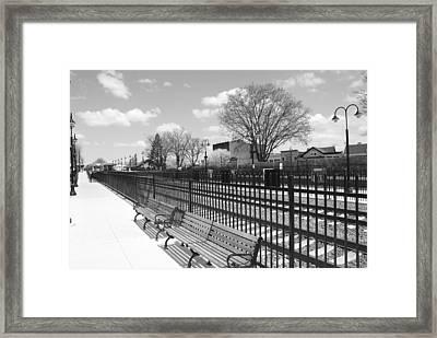 Ridgewood Nj Train Station Framed Print by Barry Glick