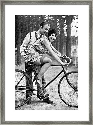 Riding Bike Makes Sexy Framed Print by Stefan Kuhn