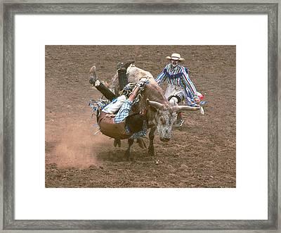 Riding Side Saddle Framed Print by Jerry McElroy