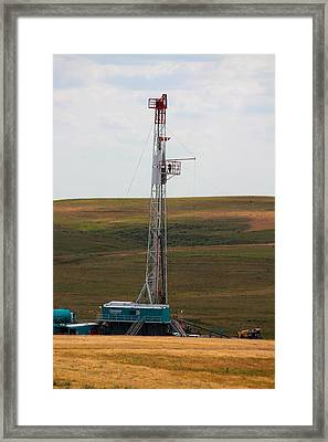Rig On The Plains Framed Print by Jason Drake