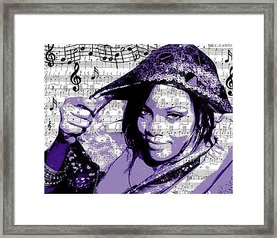 Rihanna Framed Print by Brad Scott