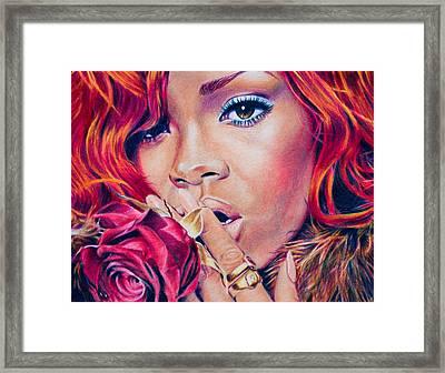 Rihanna Framed Print by Brian Owens