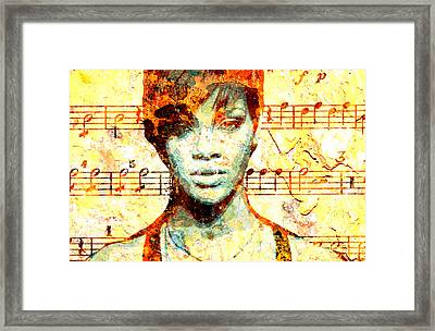 Rihanna Framed Print by Chandler  Douglas