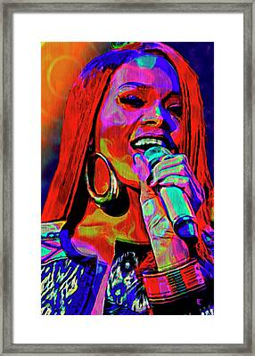 Rihanna  Framed Print by  Fli Art