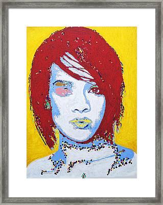 Rihanna  Framed Print by Stormm Bradshaw