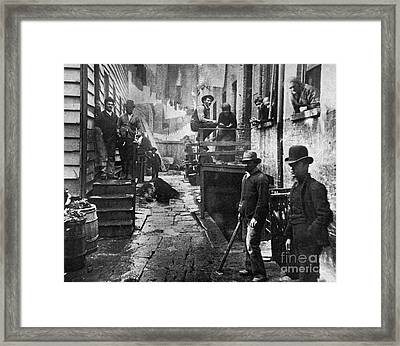 Riis: Bandits Roost, 1887 Framed Print by Granger