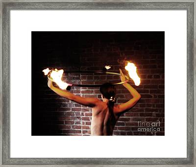 Ring Of Fire Framed Print by Steven  Digman