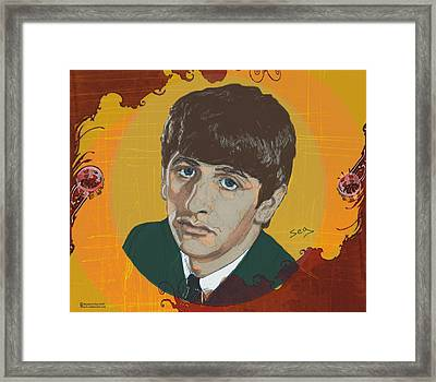 Ringo Starr Framed Print by Suzanne Gee