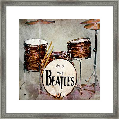 Ringo's Drums Framed Print by Bill Cannon