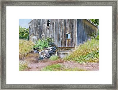 Rinky Dink Barn Framed Print by Karol Wyckoff