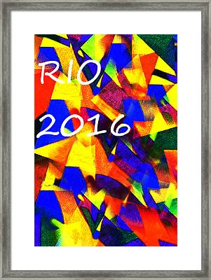 Rio 2016 Olympics Poster  Framed Print by Enki Art