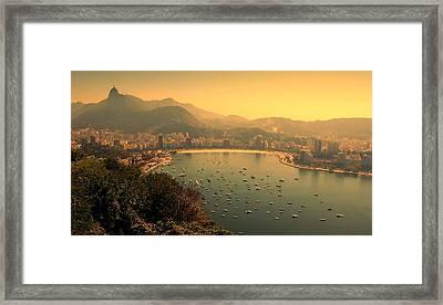 Rio De Janeiro Cityscape Framed Print by Renata Souza e Souza