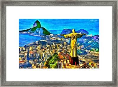 Rio De Janeiro - Pa Framed Print by Leonardo Digenio