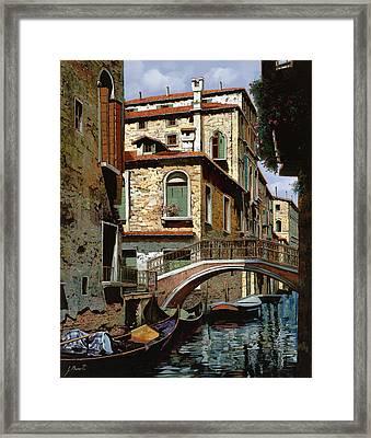 Rio Degli Squeri Framed Print by Guido Borelli