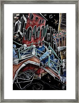 Rio Della Toletta - Contemporary Venetian Art Framed Print by Arte Venezia