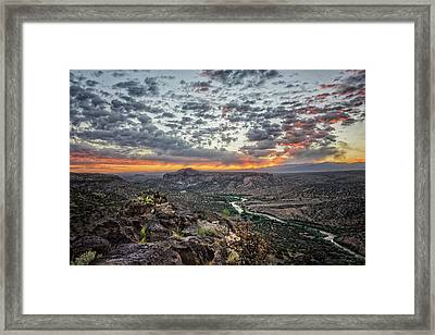 Rio Grande River Sunrise 2 - White Rock New Mexico Framed Print by Brian Harig