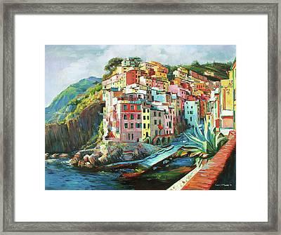 Riomaggiore Italy Framed Print by Conor McGuire
