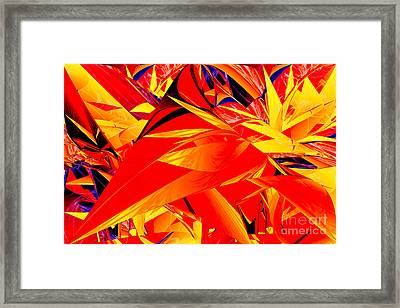 Riot Of Leaves Framed Print by Geraldine DeBoer