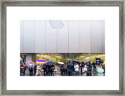 Rip Steve Jobs . October 5 2011 . San Francisco Apple Store Memorial 7dimg8561 Framed Print by Wingsdomain Art and Photography