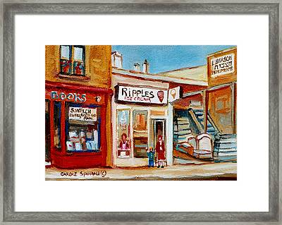 Ripples Icecream  Framed Print by Carole Spandau