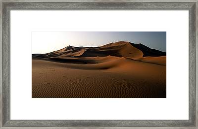 Ripples In The Sand Framed Print by Ralph A  Ledergerber-Photography