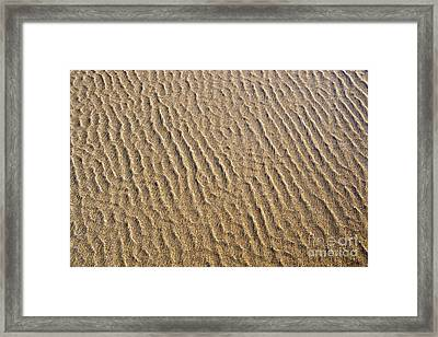 Ripples In The Sand Framed Print by Tim Gainey