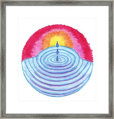 Ripples Of Change Framed Print by Wendy Hawkins