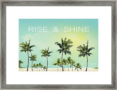 Rise And  Shine Framed Print by Mark Ashkenazi