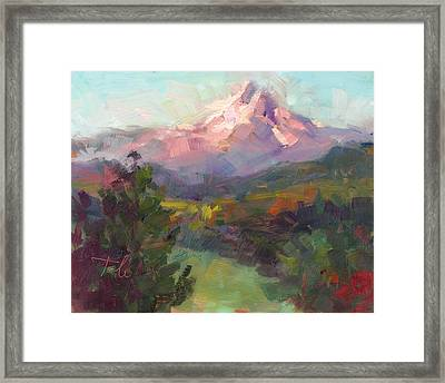 Rise And Shine Framed Print by Talya Johnson