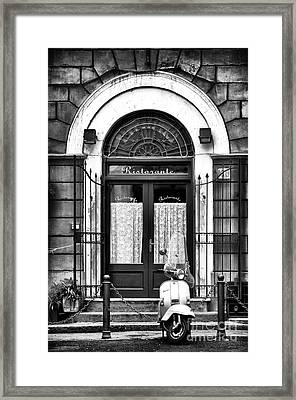 Ristorante Parking Framed Print by John Rizzuto