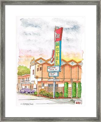 Ritz Motel In North Hollywood - California Framed Print by Carlos G Groppa