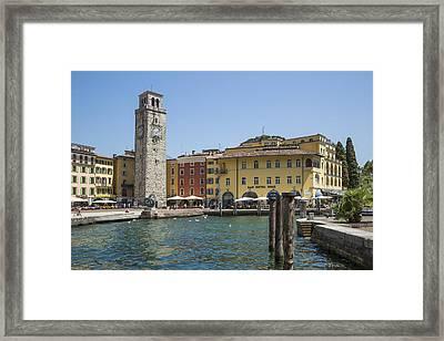 Riva Del Garda Apponale Tower Framed Print by Melanie Viola