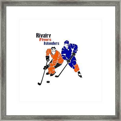 Rivalry Flyers Islanders Shirt Framed Print by Joe Hamilton